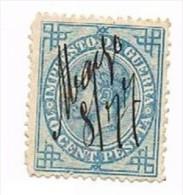 Ed. 184 Alfonso XII 10 Cts. Impuesto De Guerra 1876 Usado - 1875-1882 Reino: Alfonso XII