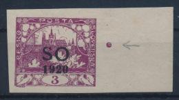 *Czechoslovakia East Silesia Ostschlesien 1920 Michel 2A Margin Point MH - Neufs