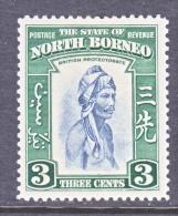 NORTH  BORNEO  196     *   FAUNA  MONKEY - North Borneo (...-1963)