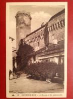 24 Dordogne BOURDEILLES Grand Café De La Halle Le Donjon Et Les Machicoulis - France