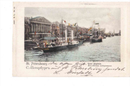 St Petersburg Quai Anglais 1908 OLD POSTCARD 2 Scans - Russia