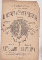 (fin Sep)il Ne Faut Mépriser Personne, Souvenir Des Misérables , KAISER ,  , Musique : CH POURNY , H LAMY , - Partitions Musicales Anciennes