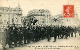 CPA 75 PARIS DEPART DES TROUPES POUR LE MAROC A LA GARE DE LYON LE 27 ET 28 AVRIL 1911 REVUE PAR LE GENERAL ARCHINARD - Metro, Estaciones