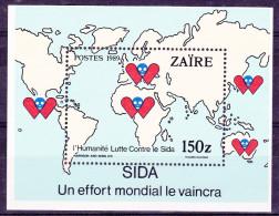 Bloc N° 43  Lutte Contre Le SIDA - Zaïre