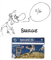 telecarte taxcard de suisse humoristique signee barrigue 11/50