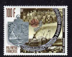 Polynésie N° 508 XX 50ème Anniversaire Du Retour Du Bataillon Du Pacifique, Sans Charnièe TB - Französisch-Polynesien