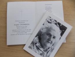 Doodsprentje Angèle Crombeen Wetteren 30/5/1906 Kortrijk 25/10/1998 ( Michel Hubrecht ) - Religion &  Esoterik