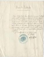 Certificat De Bonne Vie Et Moeurs/ Ville De Holtzwihr/Colmar/ Haut-Rhin/ 1874    AEC3 - Non Classés
