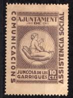 Juncosa De Les Garrigues ( Lerida ) - 10 Cts - Sofima 2  Spain Civil War  Espagne Guerre Civile - Emissions Nationalistes