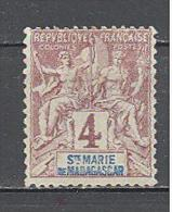 Sainte Marie De Madagascar: Yvert N°3(*);  Cote 5.00€; Voir Scan - Nuovi