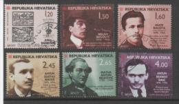 Croatia 1998, Used, 461_466 Croatian Writers - Croazia