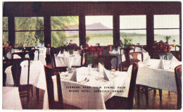 The MOANA Hotel - Diamond Head From Dining Room - Waikiki, Honolulu - Hawaii - Honolulu