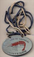 Oostende - De Orde Van De Garnaal - Plaquette In Metaal - Carnaval