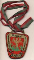 Brussel - Koning Brussel - Maurice I - Roy Bruxelles - 1981 - Plaquette In Goudkleurig Metaal - Plaquette En Metal Doré - Carnaval