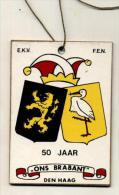 """Den Haag - 50 Jaar """"Ons Brabant"""" E.K.V. - F.E.N.  Plaquette In Karton - Carnaval"""