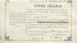 Location/Congé Amiable / 92 Rue De La Condamine/Paris / 1903    AEC5 - Unclassified