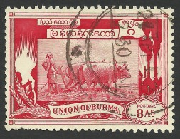 Burma, 8 A. 1949, Sc # 111, Used - Myanmar (Burma 1948-...)