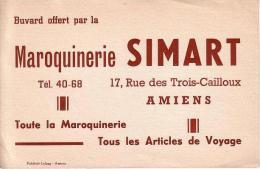 Buvard Publicitaire Maroquinerie SIMART à Amiens (Somme) - Blotters