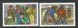 Zambia 1998 SC 643-644 MNH ILO - Zambia (1965-...)