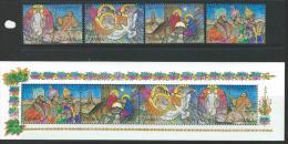 Zambia 1992 SC 586-589a MNH Christmas - Zambia (1965-...)