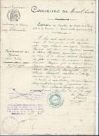 Extrait De Naissance Et De Baptéme / Commune Du Mesnil - Amelot/Damartin/Meaux / Seine Et Marne /1887   AEC9 - Non Classés