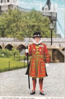 Chief Yeoman Warder,Tower Of London,Posted With Stamp,S7. - Tower Of London