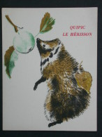 Ref3700 BP Carte Postale X 2 - Quipic Le Hérisson Et Froux Le Lièvre- Album Du Père Castor - Cartes Postales