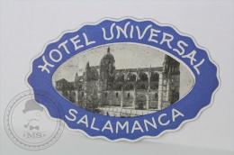 Hotel Universal Salamanca - Spain - Original Small Hotel Luggage Label - Sticker - Hotel Labels