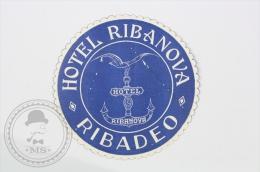 Hotel Ribanova, Ribadeo - Spain - Original Small Hotel Luggage Label - Sticker - Hotel Labels