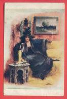152245 / Artist - A. TRENTINI - V ATALIERU , IM ATELIER , DANS I'ATELIER WOMAN HAT - 2183 J.P.P. - Andere Illustrators