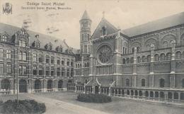 Cpa/pk 1912/13 Serie 6 Cartes Bruxelles Collège Boulevard Saint Michel - Onderwijs, Scholen En Universiteiten