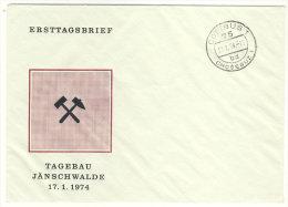 Umschlag Tagebau J�nschwalde 1974 - Stempel Cottbus