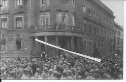 La Musique Devant Le Palais De Landau Occupation De La Ruhr Civils Et Militaires 1 Carte Photo 1914-1918 14-18 Ww1 Wk - Guerre, Militaire