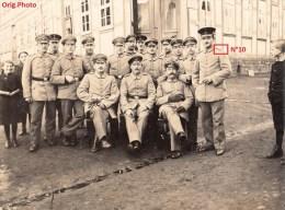 Photo Orig. Allemande- Militaires Soldats Allemand Infant. Rég.10 Enfants Pose Photo (Guerre14-18) Lire+bas - Guerre 1914-18