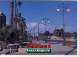 CYPRUS - LARNACA PROMENADE,    LARGE FORMAT, - Cyprus