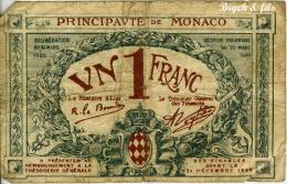 1 Franc 1920 Bleu Série E - Monaco