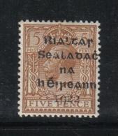W 1875 - IRLANDA , Il 5 Penny Giallo Bruno * Mint - 1922 Governo Provvisorio