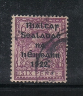 W 1879 - IRLANDA , Il  6 Penny Lilla  Usato - 1922 Governo Provvisorio