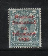 W 1882 - IRLANDA , Il  4 Penny  Azzurro  *  Mint - 1922 Governo Provvisorio