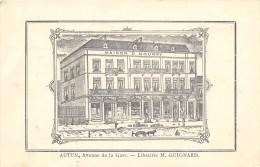 CPA 71 AUTUN AVENUE DE LA GARE LIBRAIRIE M.GUIGNARD - Autun