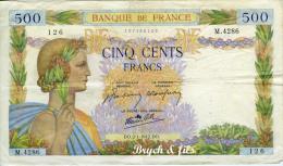 500 FRANCS  02/01/1942 - 500 F 1940-1944 ''La Paix''