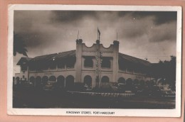 RP NIGERIA PORT HARCOURT KINGSWAY STORES + MOTOR CARS & ROAD ROUNDABOUT POSTCARD RP Nigéria Carte-photo USED - Nigeria
