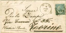 REGNO D´ITALIA -  LETTERA FERRO DI CAVALLO III TIPO - 1861-78 Victor Emmanuel II