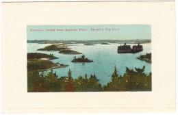 Island From Spanish Point. Showing Dry Dock  -  Bermuda - Bermuda