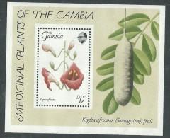 Gambie B F  N° 36 XX Fleurs Sauvages De La Réserve Naturelle D´Abuko ( II ),  Le Bloc Sans Charnière, TB - Gambia (1965-...)