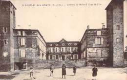 82 - St-Nicolas-de-la-Grave - Château De Richard Coeur De Lion (Gendarmerie Nationale, Ecole Communale) (tampon Busquet) - Saint Nicolas De La Grave