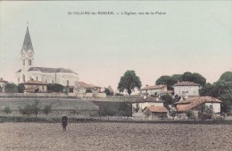 CPA 38 @ SAINT HILAIRE Du ROSIER @ L´Eglise Vu De La Plaine - France