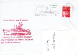 CM CALLIOPE Cession à La Marine Turque Le 17 Juillet 1998 Obl. Brest Naval 17/07/98 - Poste Navale