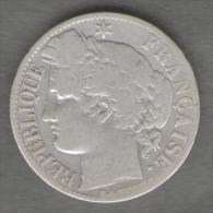 FRANCIA 1 FRANC 1871 AG SILVER - Francia