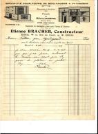 Facture Four Du Boulanger Bracher Vosges 1912 - Marcophilie (Lettres)